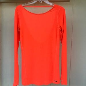 M NB NEW BALANCE Day Glow Orange Top w Thumb Slots